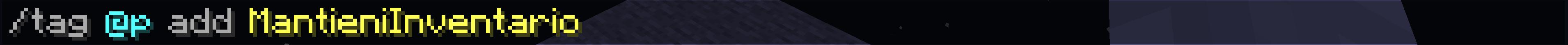 Dimostrazione comando per circoscrivere KeepInventory solo  determinati giocatori - Passo 2 di 1.13+ - uguale a passo 2 di 1.12.2-
