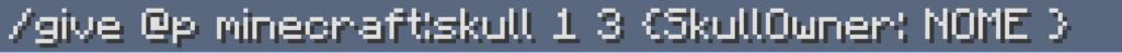 Questo è il Comando per givvarsi le teste in Minecraft 1.12 e tutte le versioni precedenti (1.11, 1.10...).