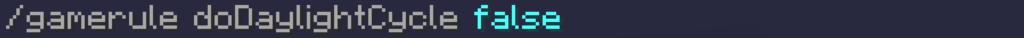 Con questo comando possiamo bloccare il tempo cronologico per mantenere sempre giorno su Minecraft. Dipende quando blocchiamo il tempo, se di giorno (e rimarrà giorno) o di notte (e rimarrà notte), o magari di pomeriggio...