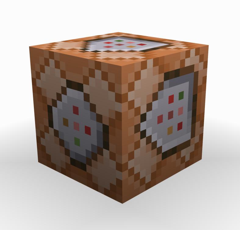 Questa è l'immagine di un Command Block, quello che oggi useremo per Rilevare Quando Un Player È Accovacciato su Minecraft, e per legarci un'azione di conseguenza. Leggete l'articolo per capire!
