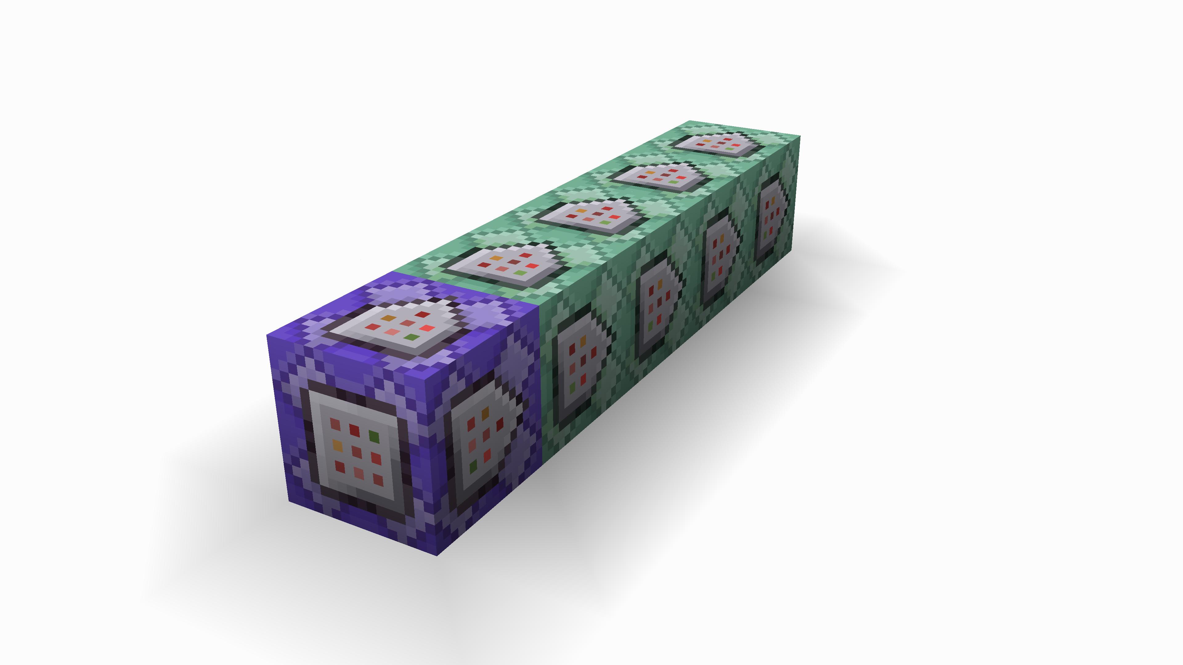 Screenshot dei Command Blocks che ci fanno la parte funzionante del Jump Gadget.