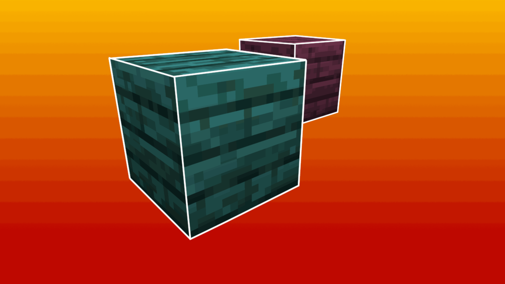 I Warped e Crimson blocks sono dei blocchi distorti colorati caratteristici del Nether. Sono colorati in modo particolare e disponibili solo dal Nether Update di Minecraft.