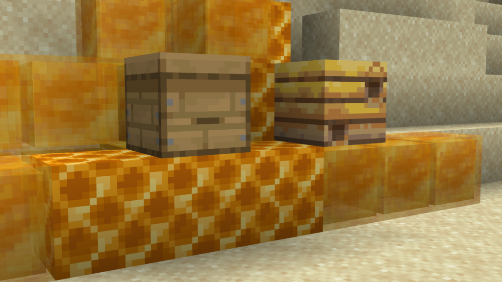 Questi sono il Bee Nest e il Bee Hive, sono i blocchi che ci consentono di prendere il miele su Minecraft, quando pieni.