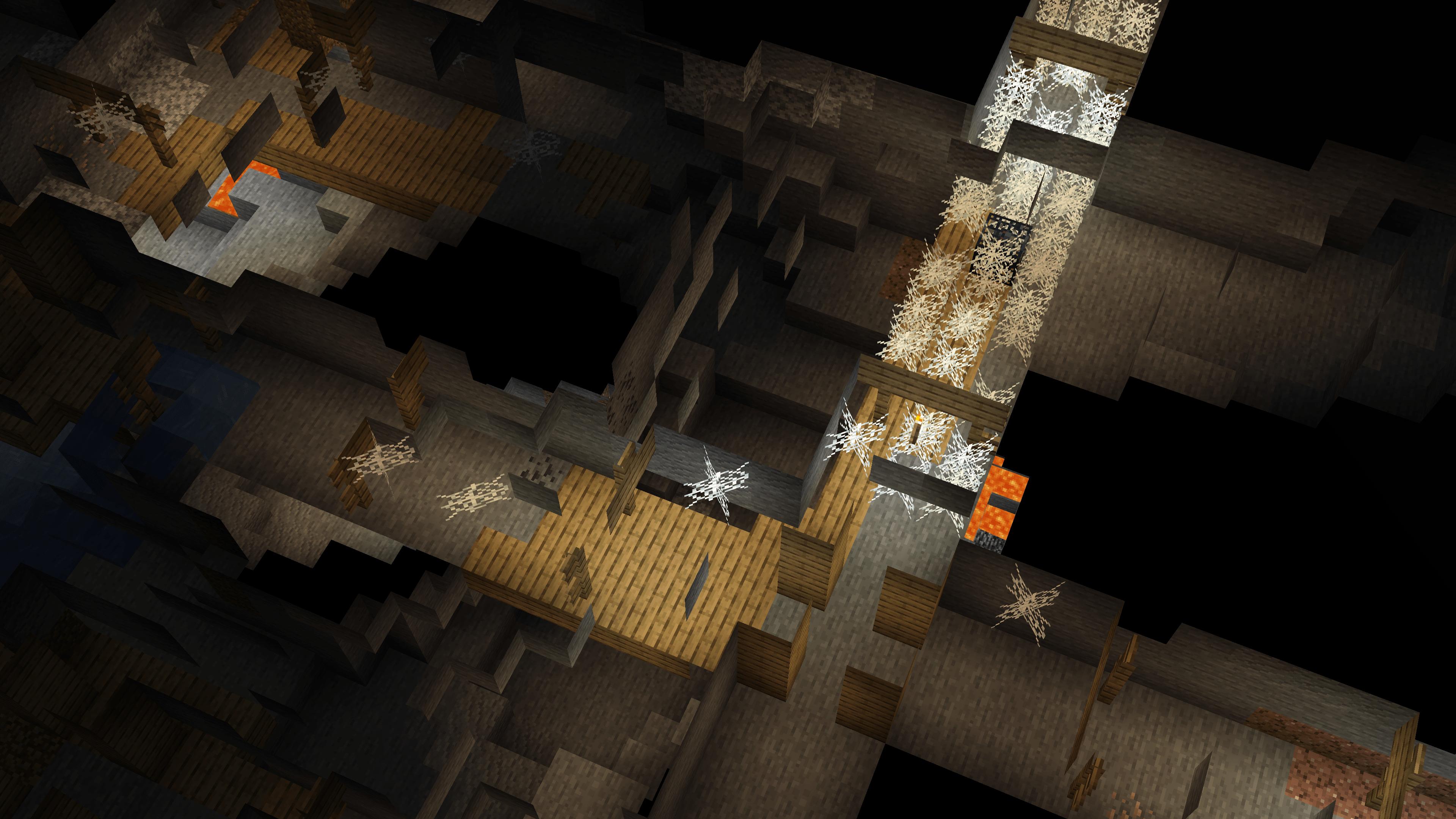 Vedete questo immenso labirinto? È una miniera abbandonata su Minecraft. E in questo post vedremo come trovare le miniere abbandonate nel gioco per esplorarle ed arricchirsi.