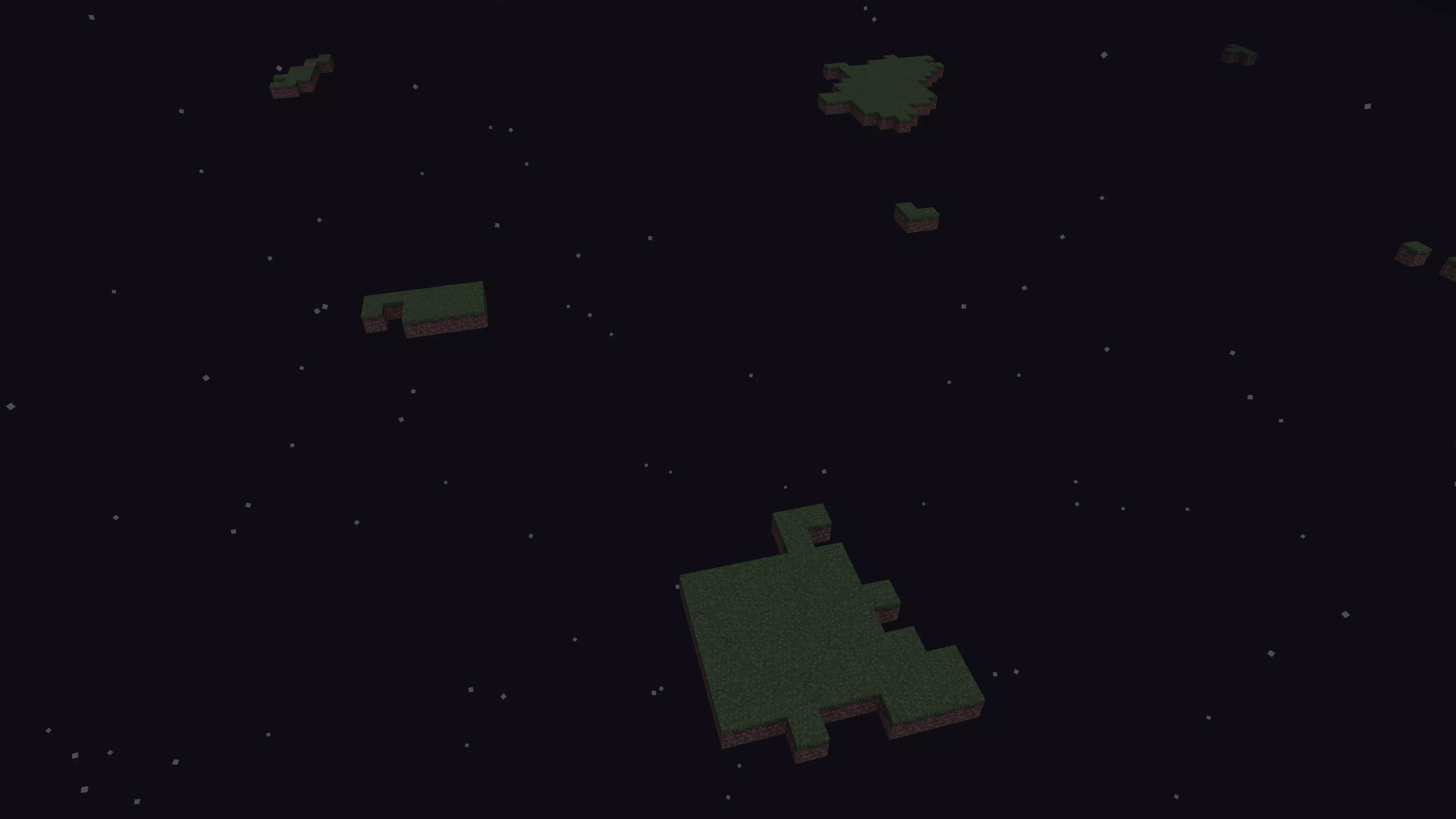 Ecco il risultato del nostro Mondo esplosivo di Minecraft. Niente male.