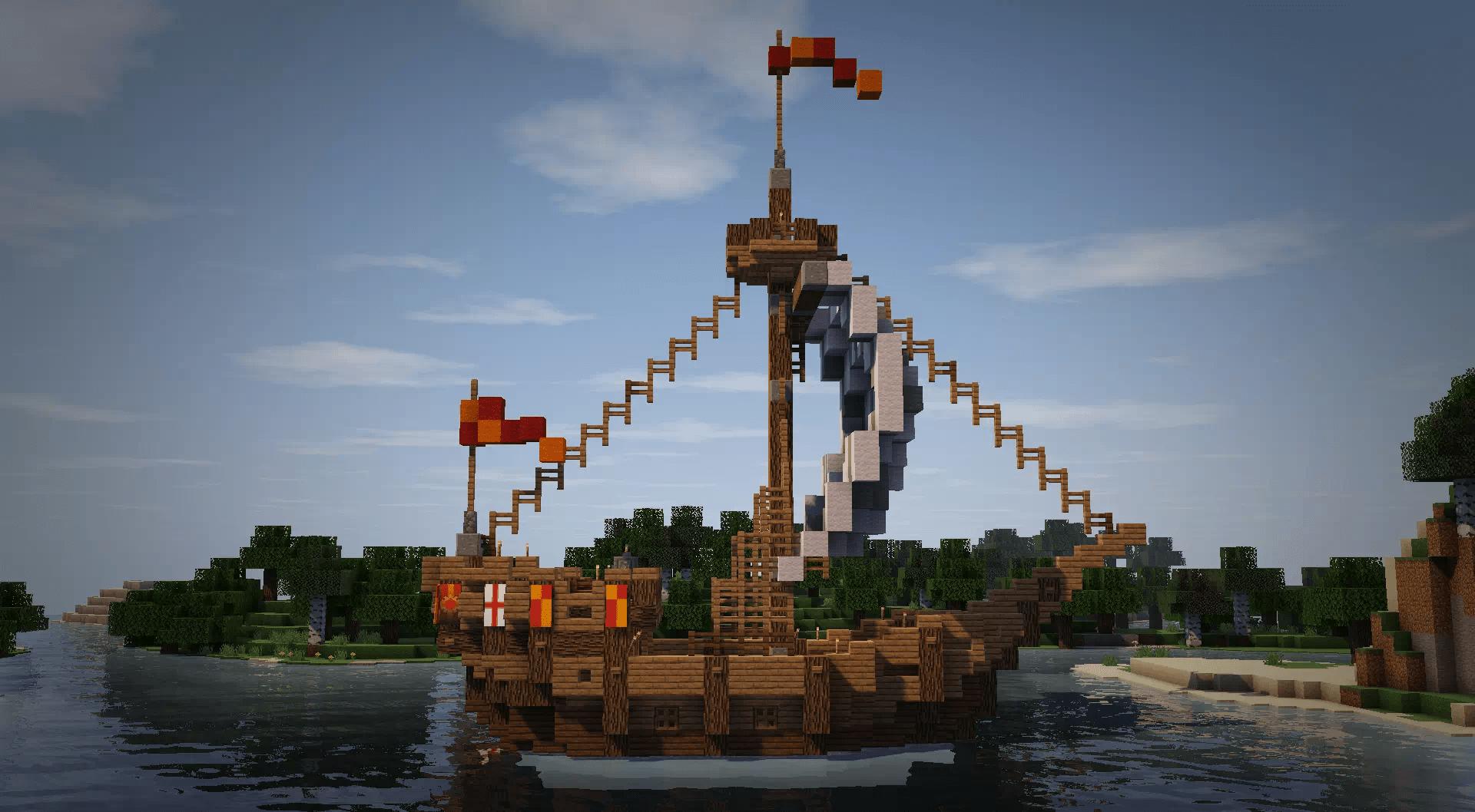 Il relitto, una nave mezza affondata magari, come avrei potuto non includerla in questa lista delle cose da costruire su Minecraft quando si è annoiati.