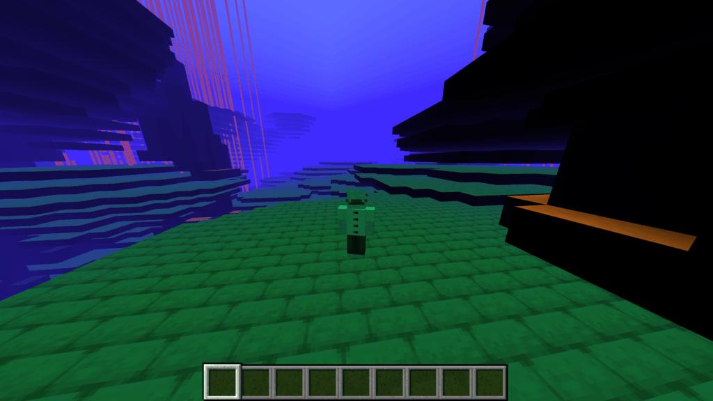 Seconda dimensione visitata nella snapshot 20w14∞ - Minecraft.