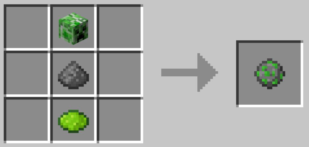 Questo è uno dei pattern per i fuochi d'artificio di Minecraft.
