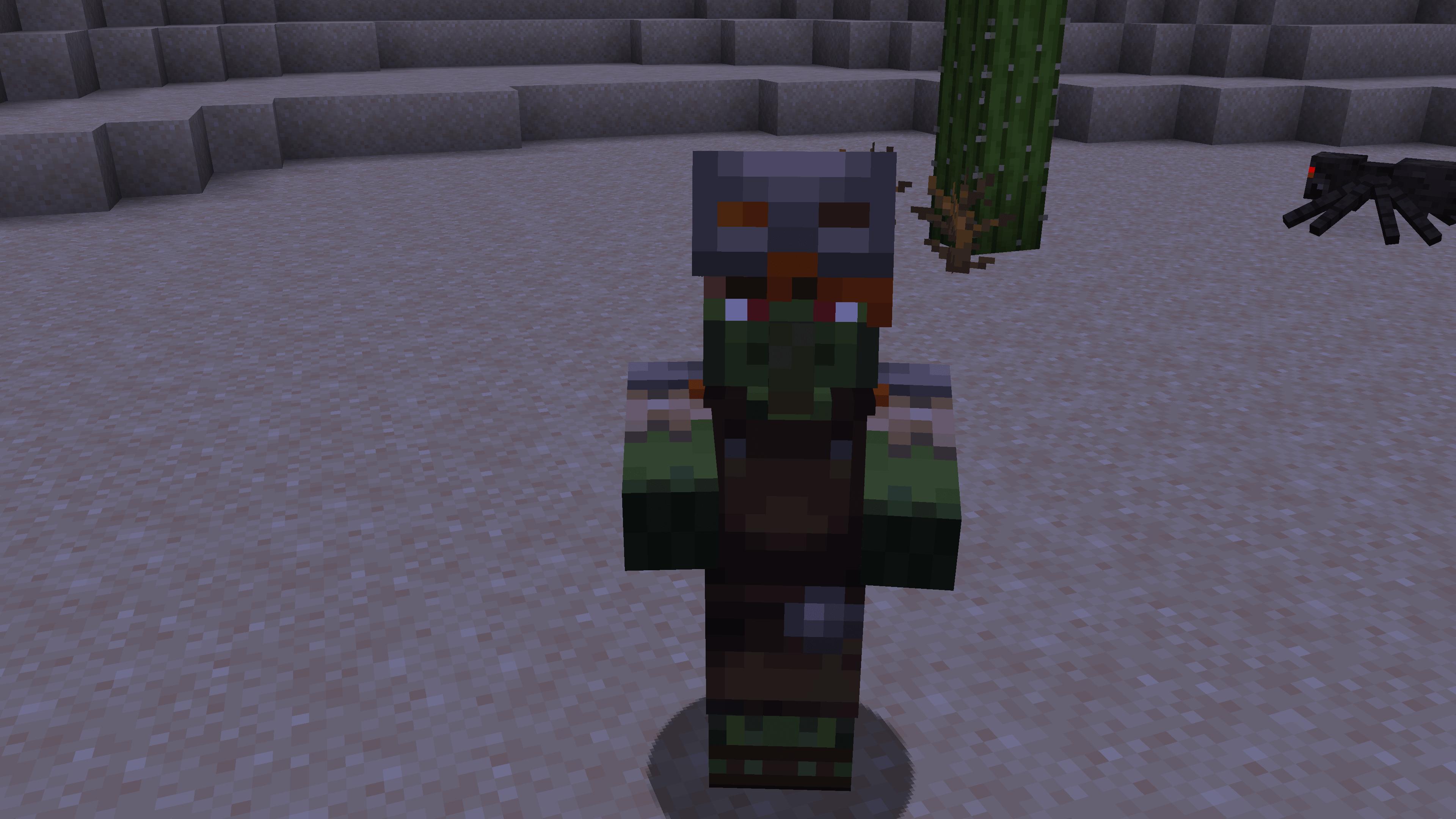 Un villager zombie di Minecraft, che oggi vedremo. Ecco come far tornare normale un villager zombie su Minecraft