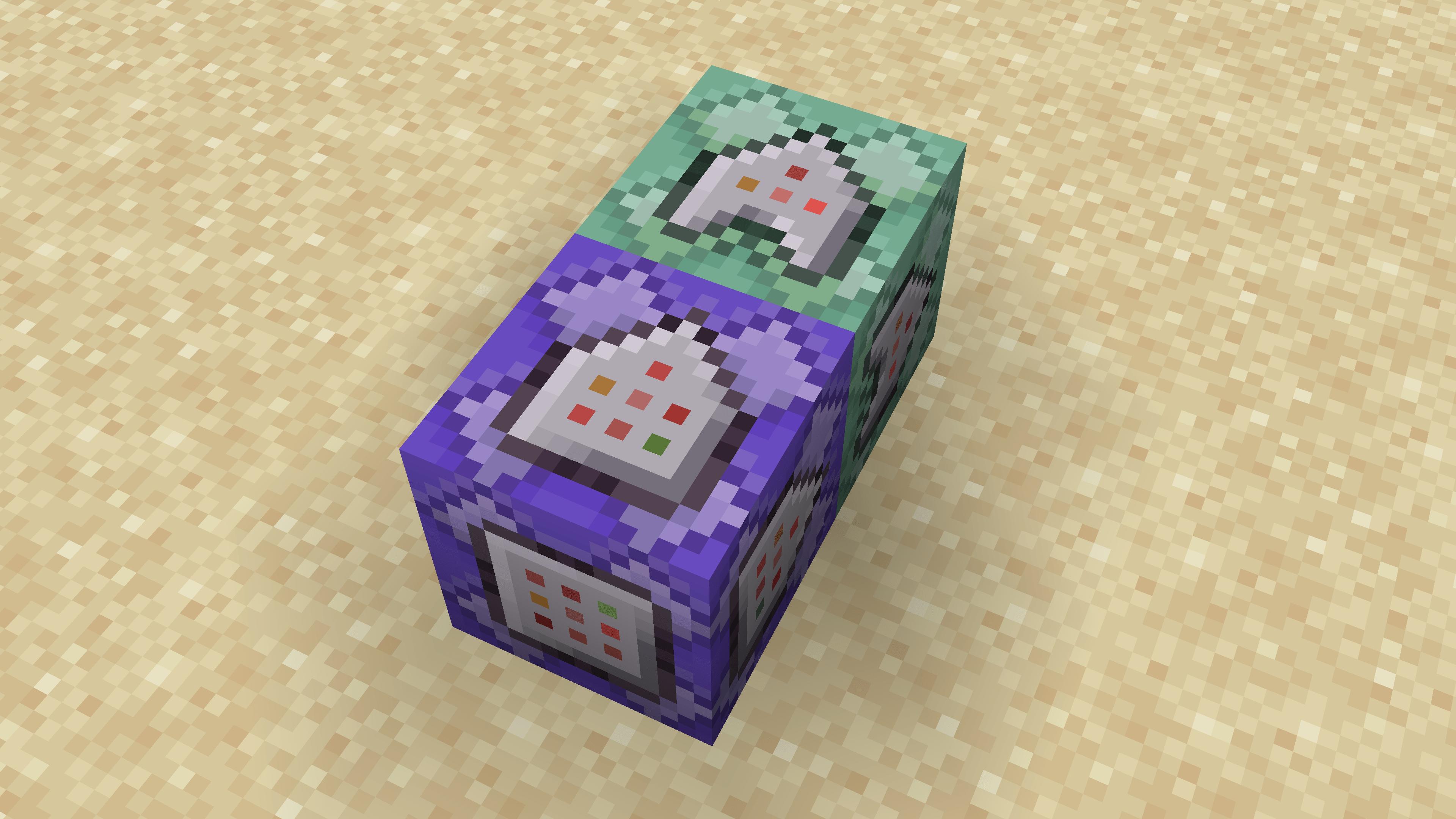 I due Command Block che ci servono per fare l'arco spara fireball devono essere così. Ovviamente puoi metterli in verticale se vuoi.
