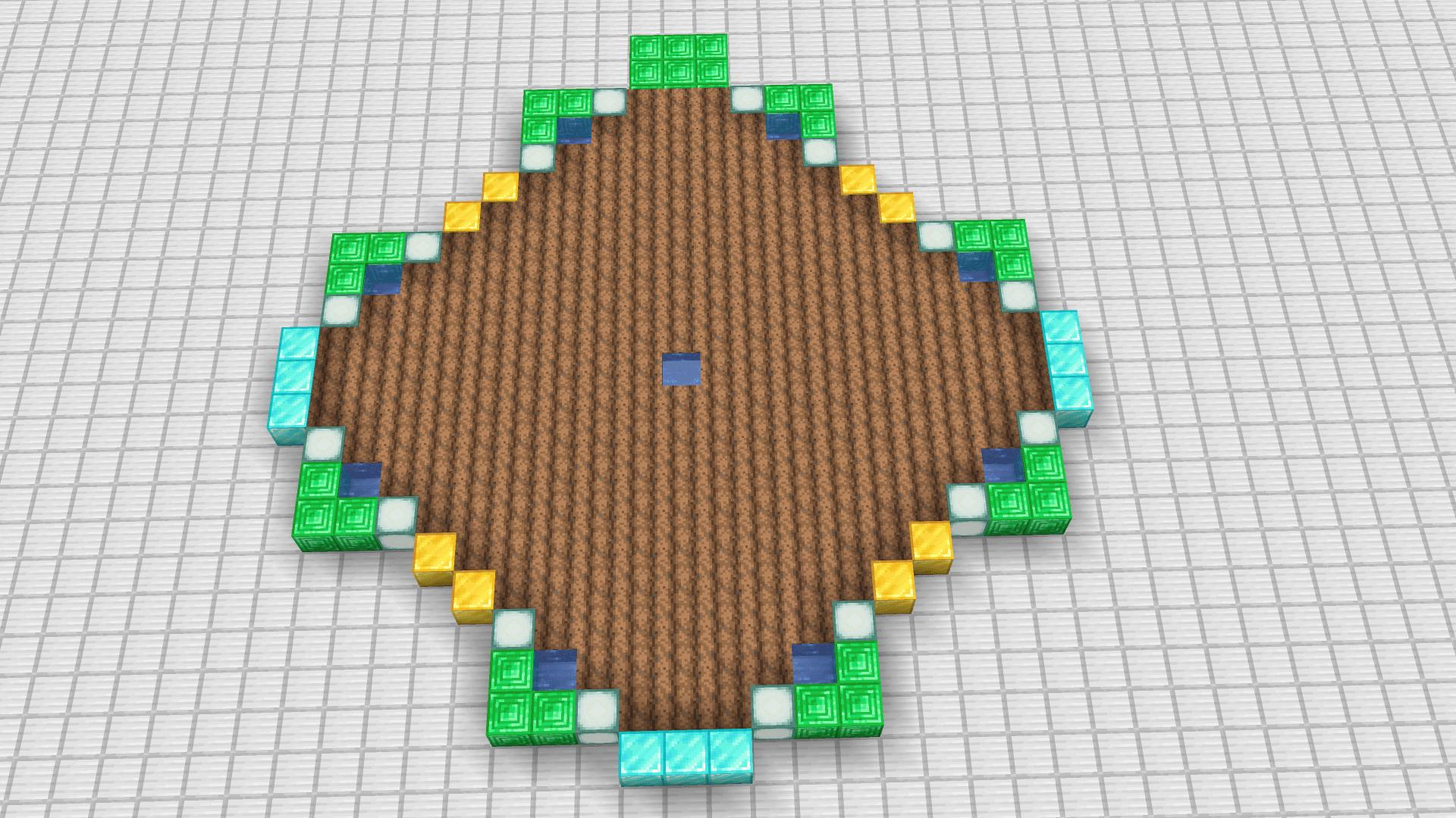 Contornare a piacimento ma come spiegato nell'immagine. Quasi finito la struttura base per accoppiare i villagers.