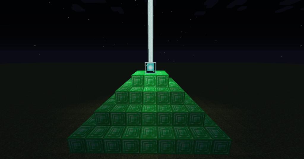 Un'altra volta, i beacon da fare coi blocchi di smeraldi di Miencraft!