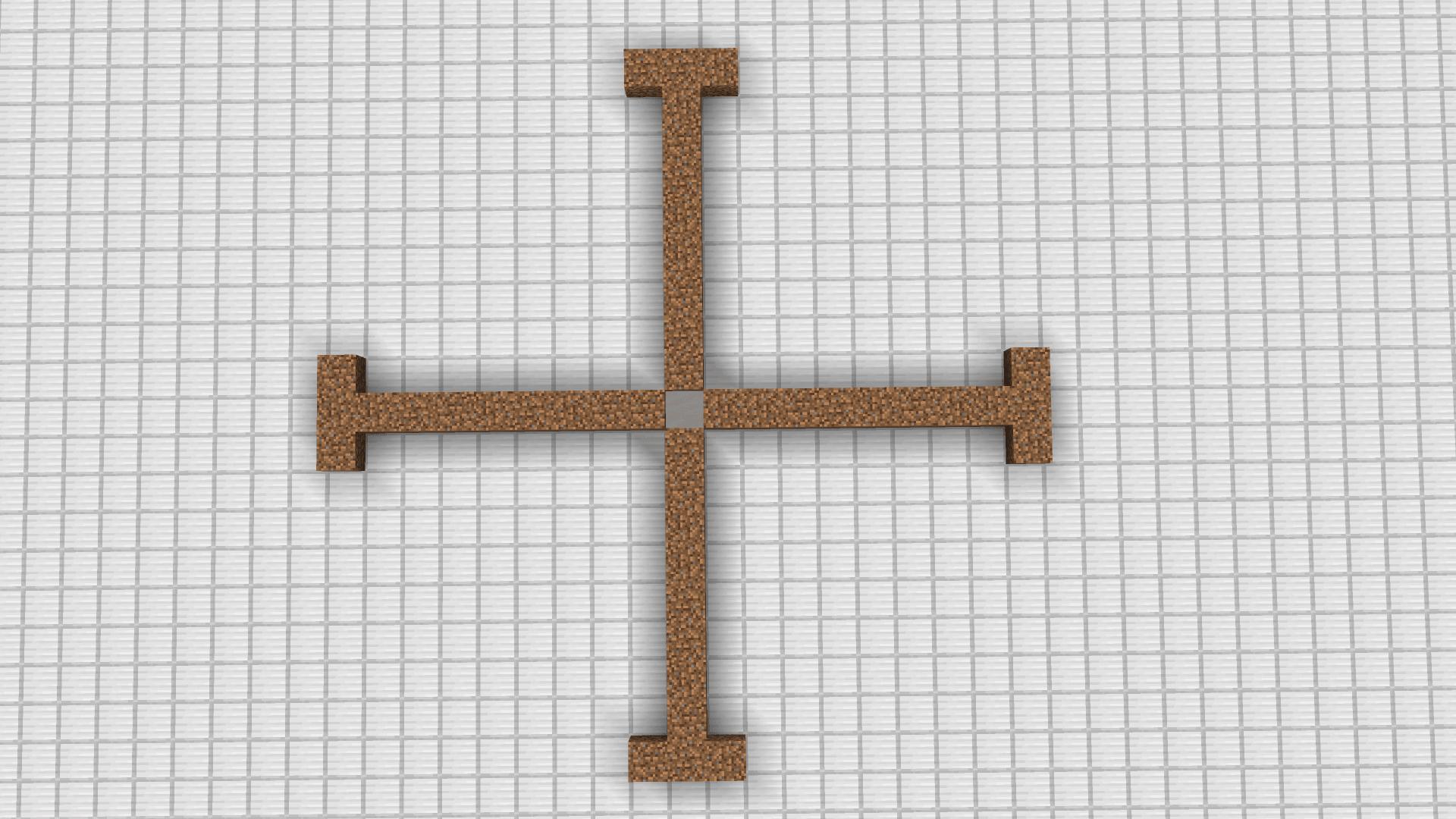 Step 1 per far accoppiare i villagers su Minecraft - creare lo scheletro