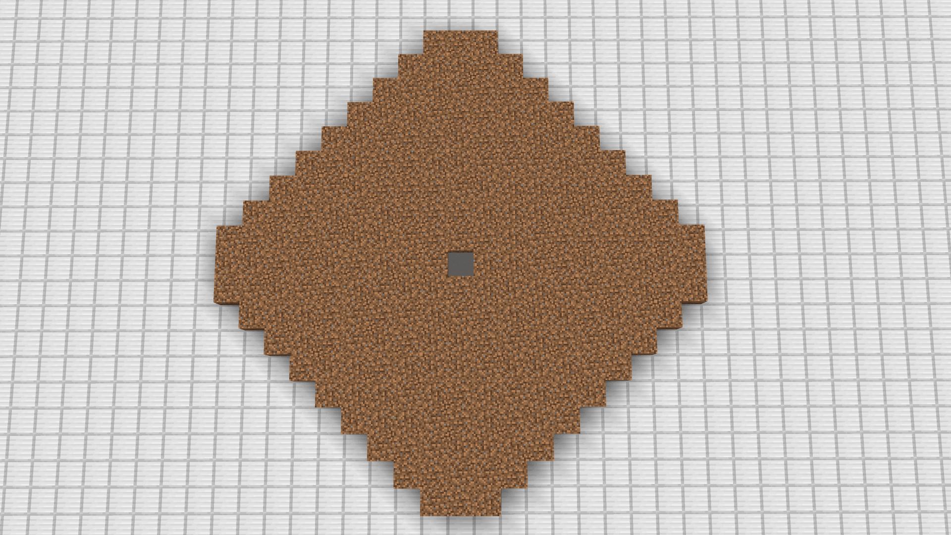 Step 2 per far accoppiare i villagers Minecraft - riempire di terra il terreno di farm