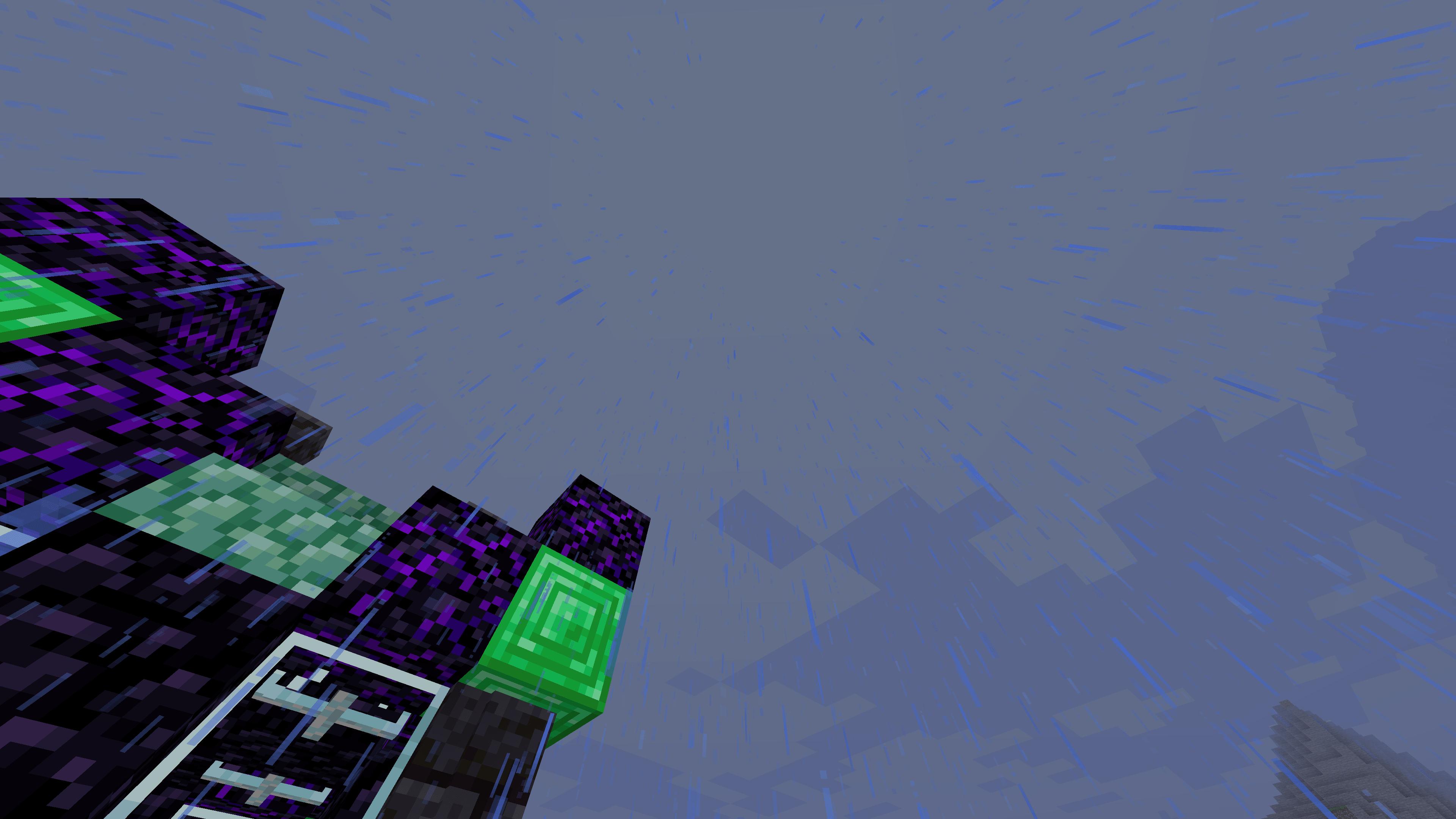 Nell'immagine piove. E Minecraft fa i dispetti, perché imposto sereno col Weather e ritorna la pioggia. Quindi oggi vedremo come togliere definitivamente la pioggia su Minecraft, per sempre.