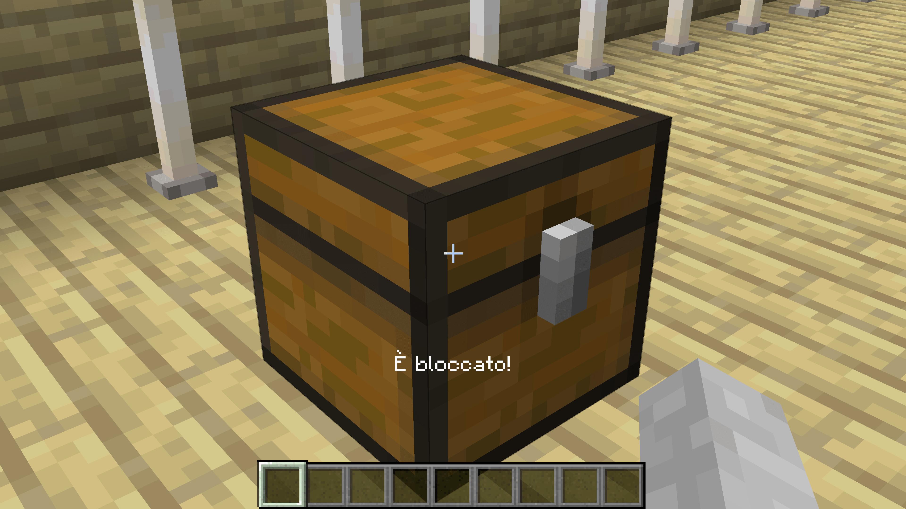 Introduzione su come bloccare le casse su Minecraft. Richiederà un Comando solo.