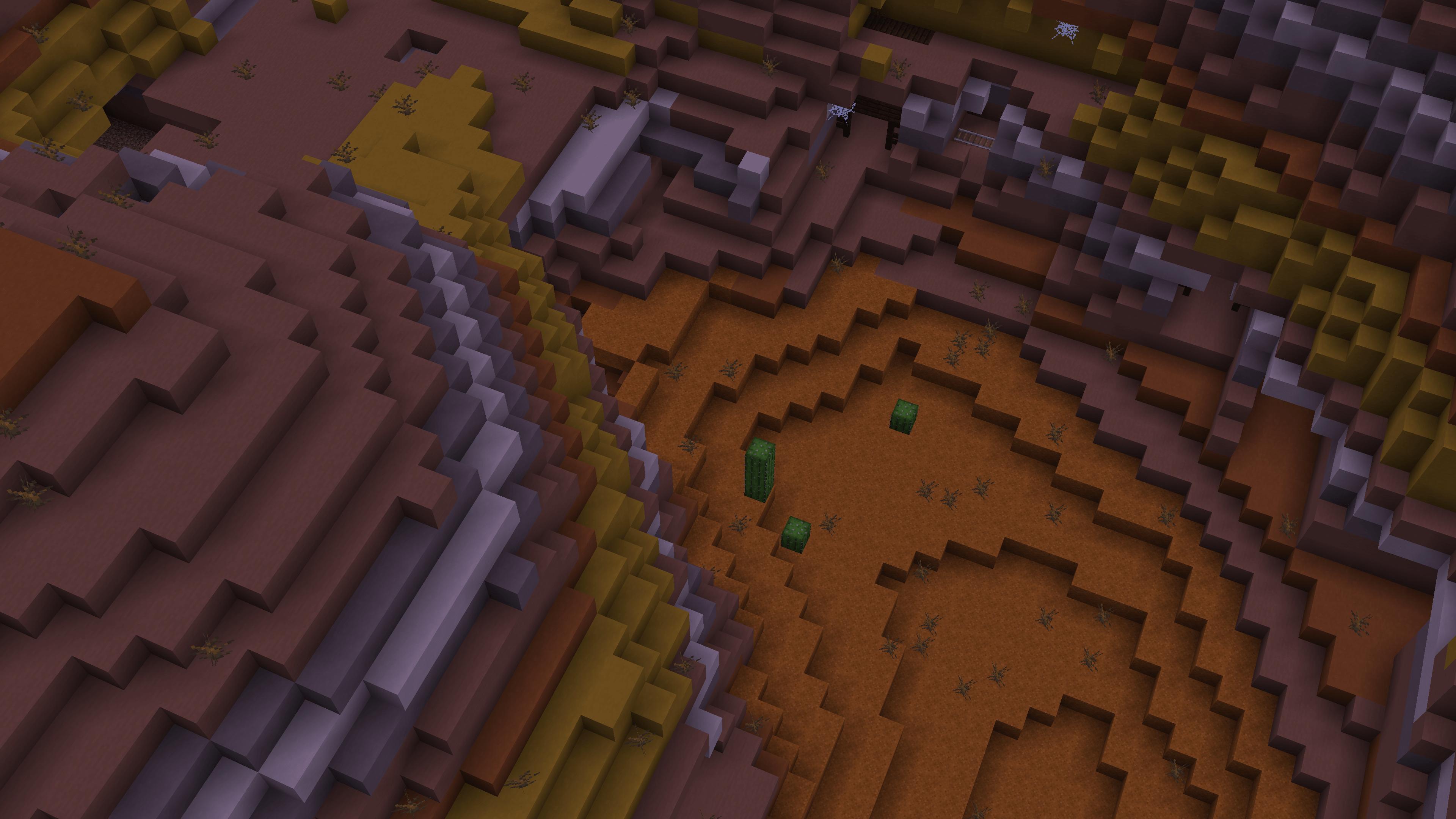 Ho usato MineAtlas e un po' di modalità Spettatore per andare più veloce. Mi sono orientato con successo in Minecraft e ho trovato il bioma arancione.