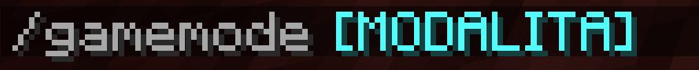 Dato che vogliamo usare il Gamemode per la modalità spettatore, qua la sintassi. Dico Spettatore perché permette di vedere attraverso i blocchi in Minecraft.