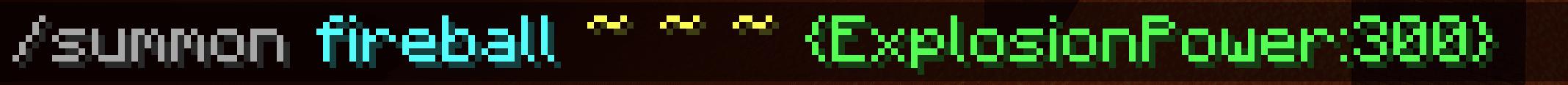 Comando per Minecraft 1.16 per evocare Fireball in grado di poter rompere l'Ossidiana - non è necessario il DataTag direction!