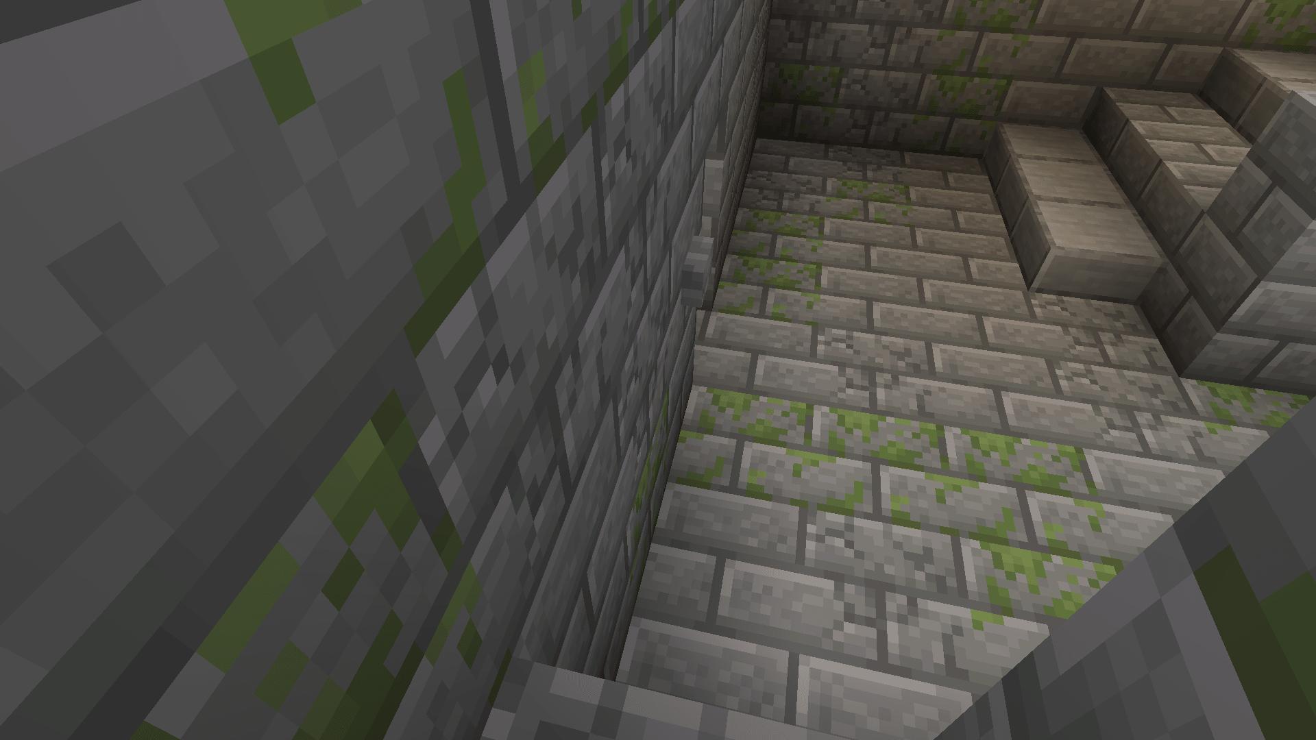Immagine decorativa: la Stronghold, contenente il portale in Minecraft, raggiunta scavando verso il basso.