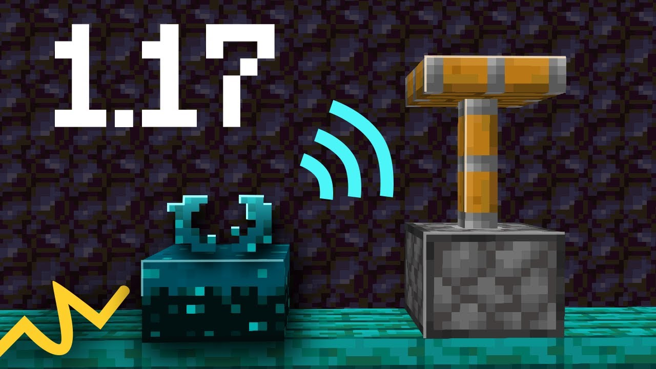 Wireless redstone di Minecraft con Caves and Cliffs.